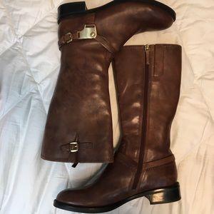 Ecco cognac leather riding boot
